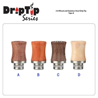 510 Wood And SS Type A Drip Tip