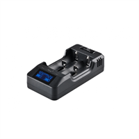 Xtar VP2 2 - Slot Intelligent LED Monitor Li - ion Battery Charger with Car Charger Used as Power Bank