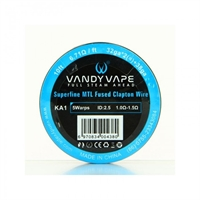 Vandy Vape Kanthal A1 Superfine Mtl Fused Clapton Wire 32ga*2(=) +38ga